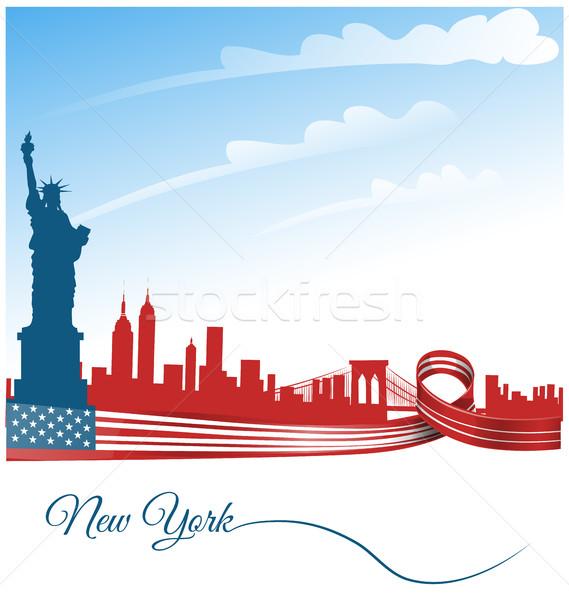 ニューヨーク市 米国 フラグ 市 抽象的な 旅行 ストックフォト © doomko