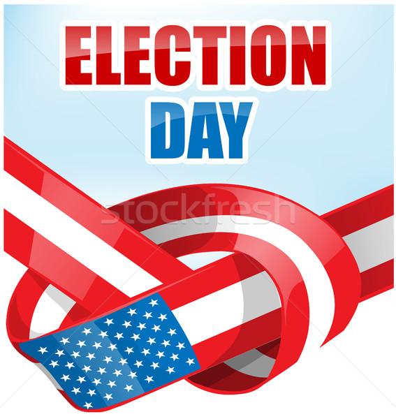 EUA eleição dia fita bandeira céu Foto stock © doomko
