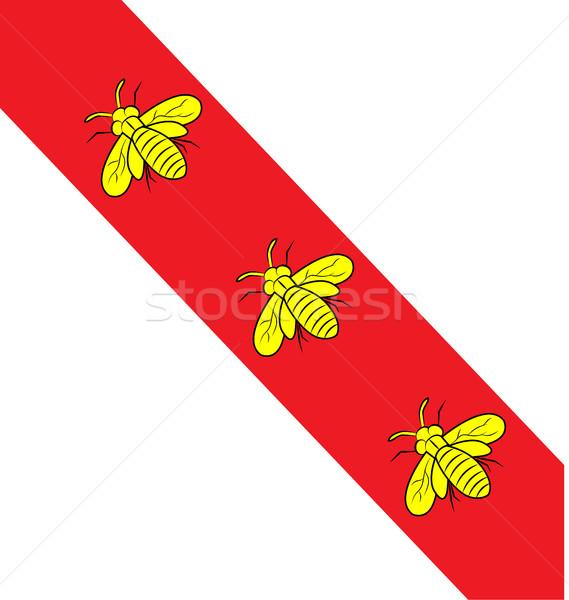Ada bayrak arı simge dizayn arka plan Stok fotoğraf © doomko