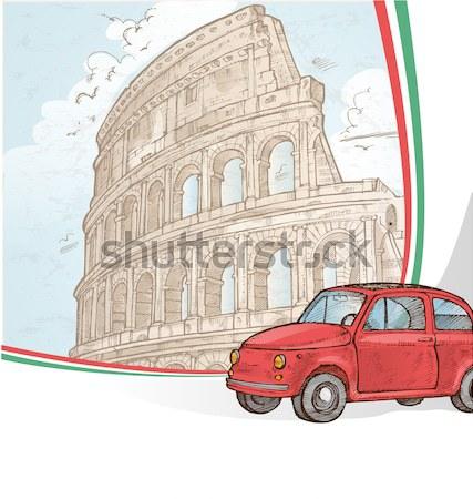 イタリア 車 イタリア語 シンボル 市 ストックフォト © doomko
