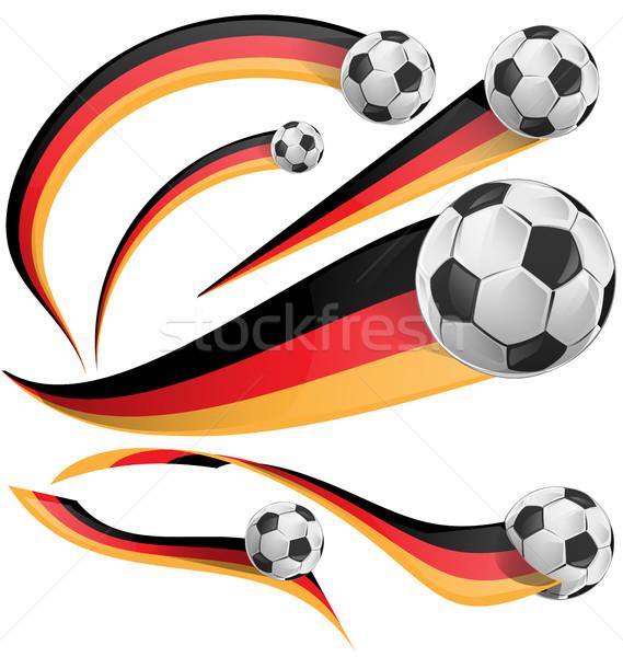 Almanya bayrak futbol topu beyaz doku futbol Stok fotoğraf © doomko