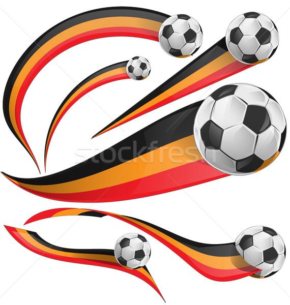 portugal flag set whit soccer ball [Convertito] Stock photo © doomko