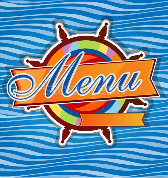 restaurant  menu whit rudder Stock photo © doomko