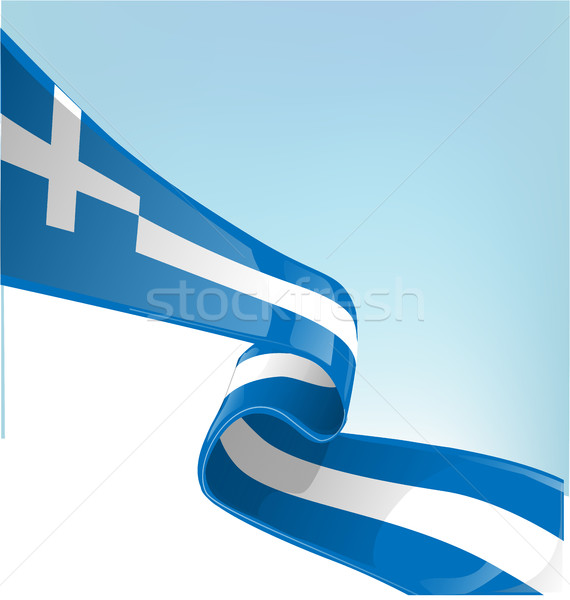 Greek flag on sky background Stock photo © doomko