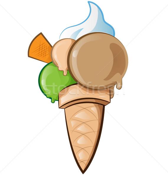 Dondurma yalıtılmış beyaz gıda dizayn sanat Stok fotoğraf © doomko