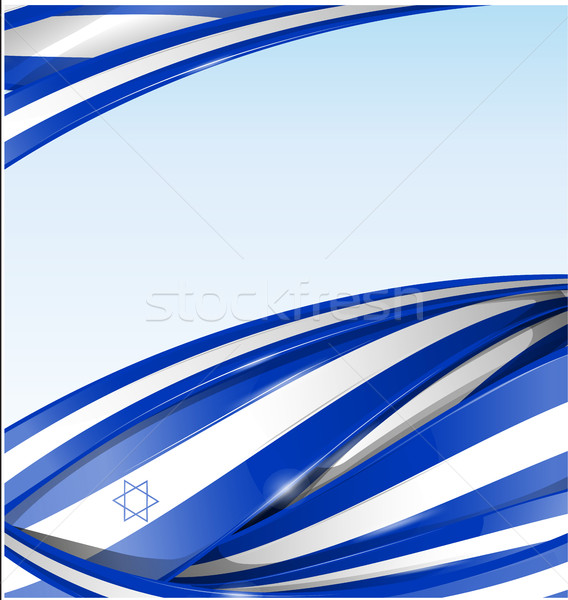 Izrael textúra zászló üzlet terv kártya Stock fotó © doomko