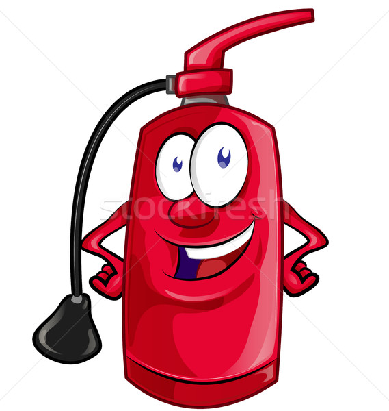 Cartoon Character of fire extinguisher isolated on white backgro Stock photo © doomko