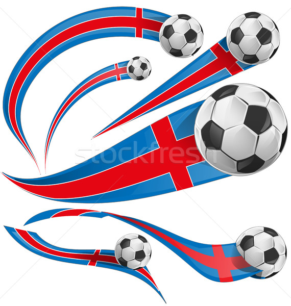 iceland flag with soccer ball