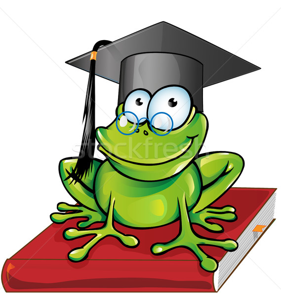 Wise frog  cartoon Stock photo © doomko