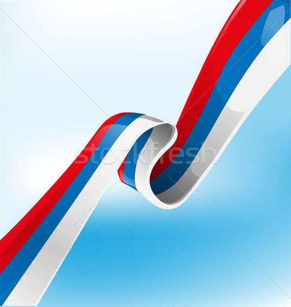 russian ribbon flag on background Stock photo © doomko