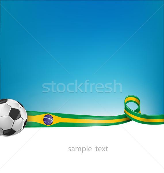 Brazilië voetbal textuur voetbal frame reizen Stockfoto © doomko