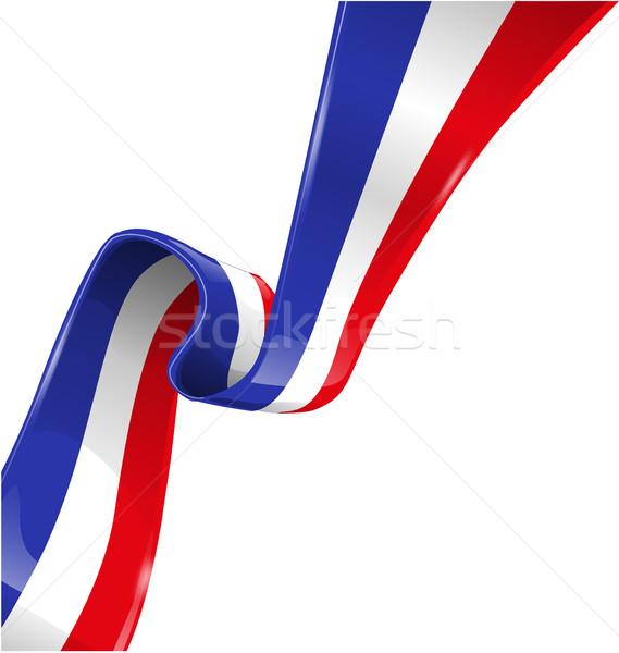 Stock fotó: Franciaország · zászló · izolált · fehér · üzlet · háttér