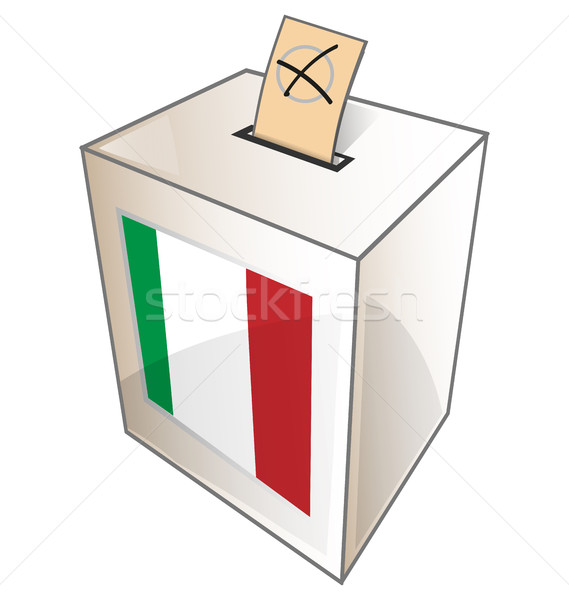 italian urn symbol on white background Stock photo © doomko