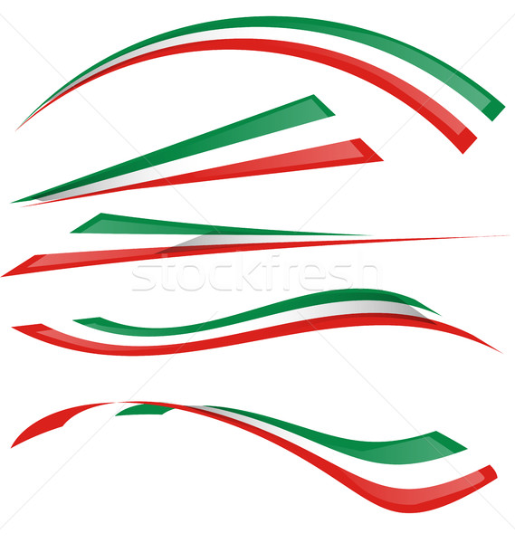 italian flag set Stock photo © doomko
