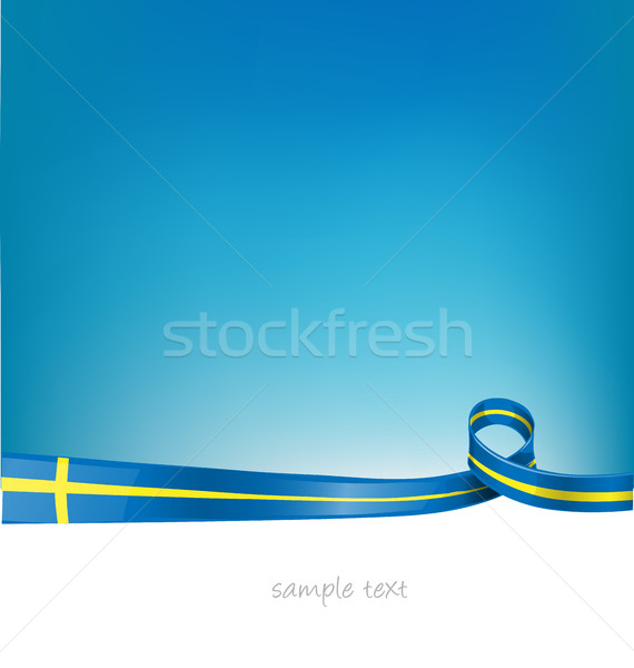 sweden flag on sky  background Stock photo © doomko
