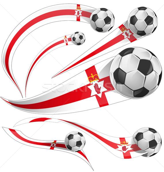 北 アイルランド フラグ サッカーボール サッカー 抽象的な ストックフォト © doomko