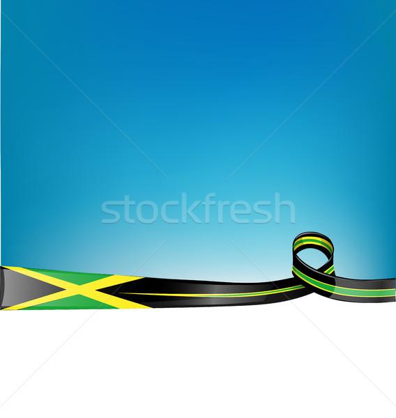 jamaica ribbon flag background Stock photo © doomko