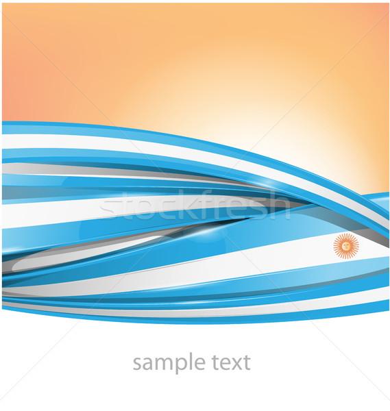 Argentinië textuur vlag zon abstract kunst Stockfoto © doomko
