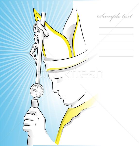 Papa mavi gökyüzü doku soyut çerçeve imzalamak Stok fotoğraf © doomko