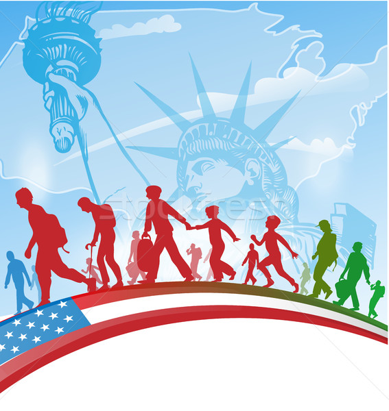 american people immigration background Stock photo © doomko