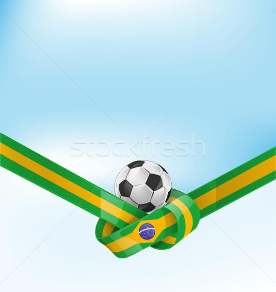 ブラジル フラグ セット サッカーボール サッカー フレーム ストックフォト © doomko