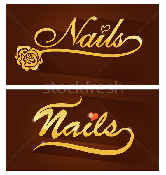 nails saloon symbol Stock photo © doomko