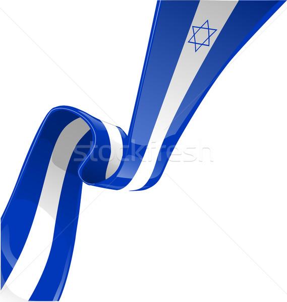 イスラエル リボン フラグ 白 ビジネス ストックフォト © doomko