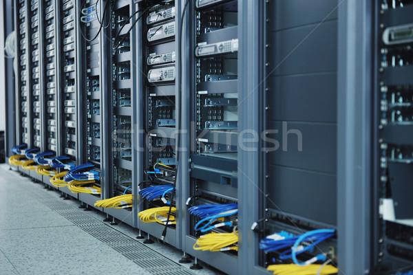 сеть сервер комнату компьютеры цифровой телевизор Сток-фото © dotshock