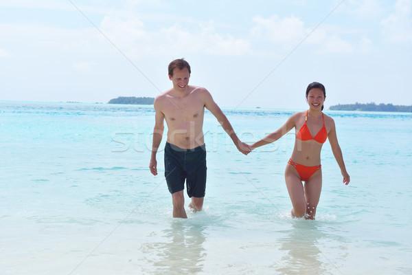 счастливым весело пляж молодые романтические Сток-фото © dotshock