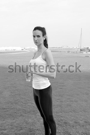 молодые красивая женщина бег утра работает парка Сток-фото © dotshock