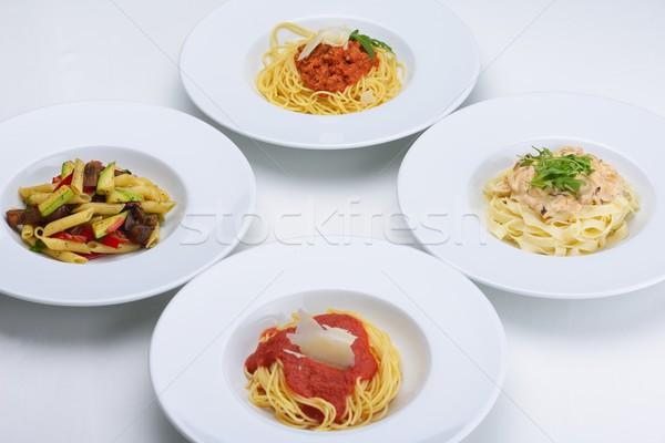 Foto d'archivio: Maccheroni · formaggio · pollo · funghi · alimentare · foglia