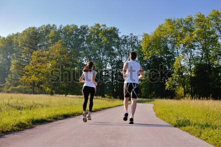 Jogging parc matin santé fitness Photo stock © dotshock