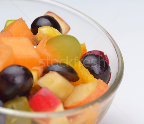 Foto stock: Salada · de · frutas · salada · fresco · frutas · alimentação · saudável