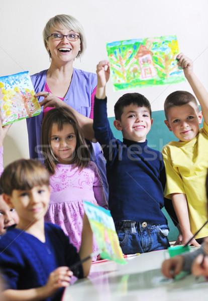 дети счастливым ребенка группа весело Сток-фото © dotshock