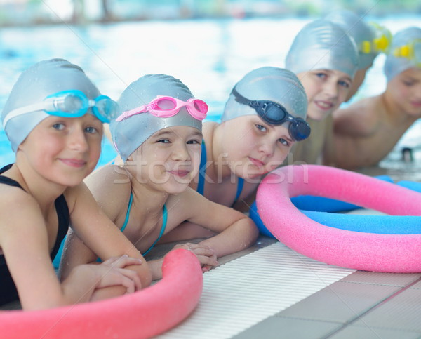 children group  at swimming pool Stock photo © dotshock