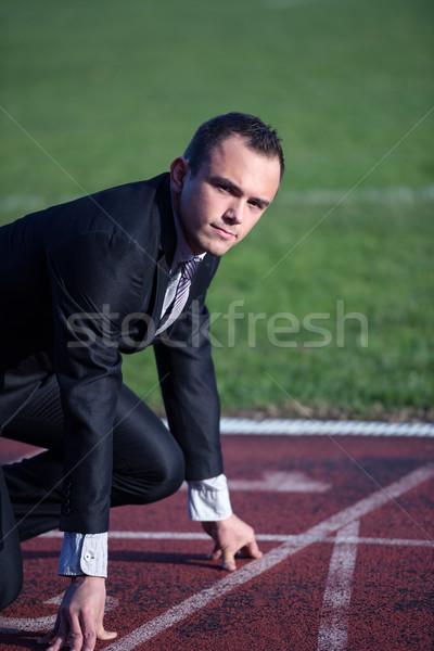 business man ready to sprint Stock photo © dotshock