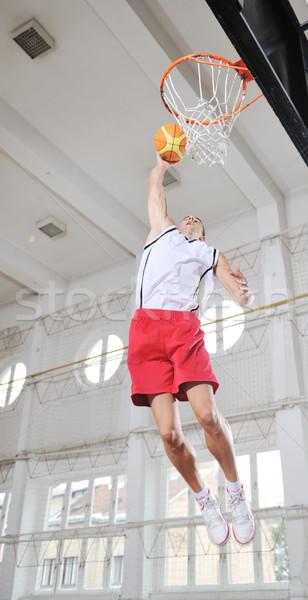 Magic koszykówki młodych zdrowych ludzi człowiek Zdjęcia stock © dotshock