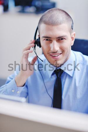 businessman with a headset Stock photo © dotshock