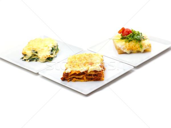 Сток-фото: Лазанья · традиционный · Лазанья · говядины · соус · болоньезе