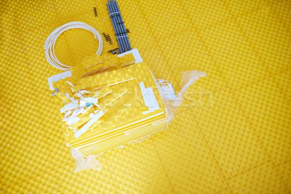 ısıtma sarı inşaat Bina su çalışmak Stok fotoğraf © dotshock