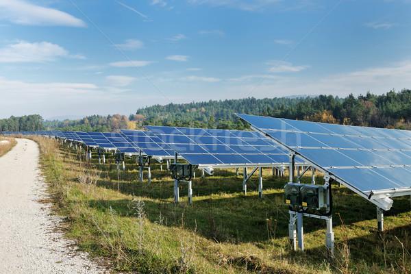 solar panel renewable energy field Stock photo © dotshock
