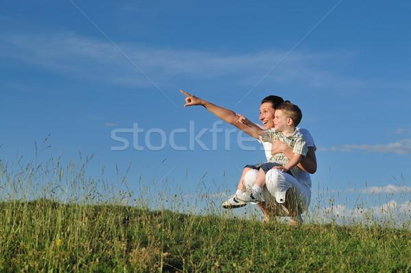 woman child outdoor Stock photo © dotshock