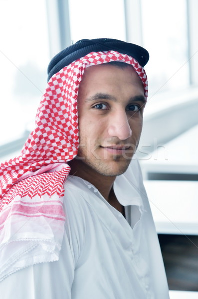 arab business man at bright office Stock photo © dotshock