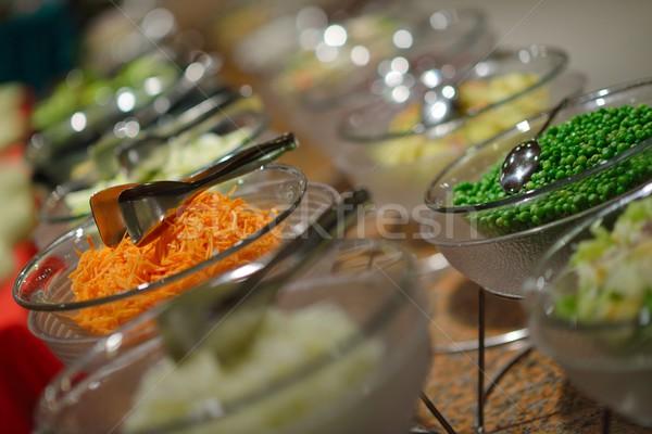 Buffet alimentaire restauration luxe restaurant Photo stock © dotshock