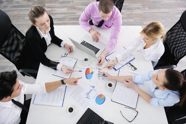 ストックフォト: ビジネスの方々 · チーム · 会議 · 光 · 現代 · オフィス