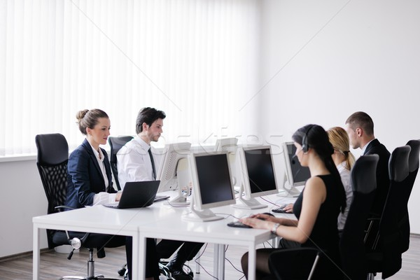 Stock photo: business people group working in customer and helpdesk office
