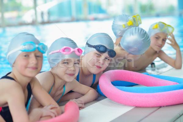children group  at swimming pool Stock photo © dotshock