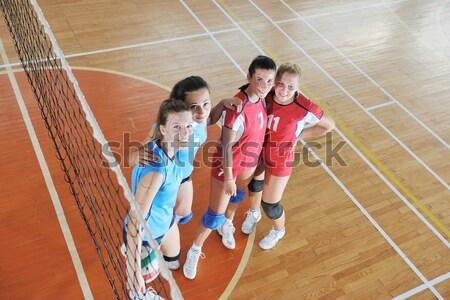 Voleibol juego deporte grupo jóvenes hermosa Foto stock © dotshock