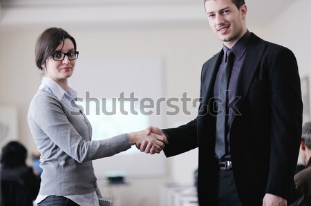business people group on seminar Stock photo © dotshock