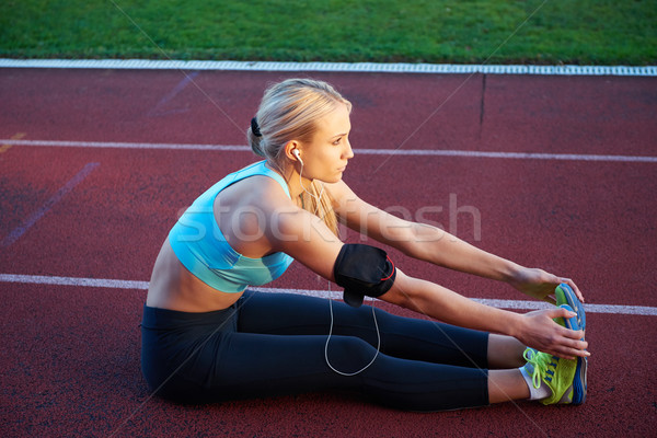 женщину спортивный ипподром молодые Runner Сток-фото © dotshock
